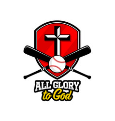 athletic christian logo vector image