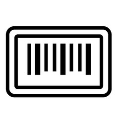 Barcode sticker icon outline style vector