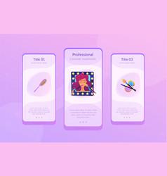 Beauty salon app interface template vector