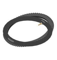 Bike parts icon isometric style vector