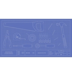 Blueprint instruments vector image