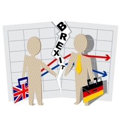 Britain and Germany Brexit Severance of relations vector image