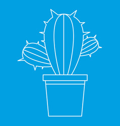 Cactus plant icon outline style vector