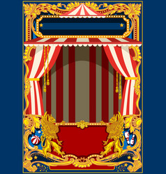 carnival poster with circus tent vector image