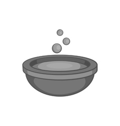 Cauldron of brew icon black monochrome style vector