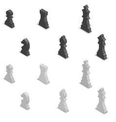 Chess figures isometric vector
