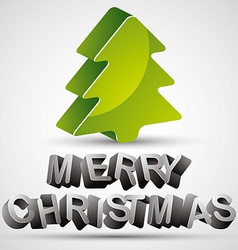 Christmas greetings card with 3d letters and vector image