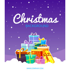 christmas greetings poster snow weather with new vector image