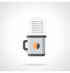 Coffee for manager flat color icon vector image