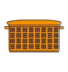 Empty hamper basket vector