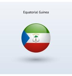 Equatorial Guinea round flag vector