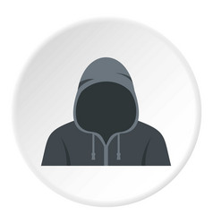 Figure in a hoodie icon circle vector