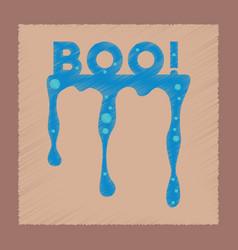 Flat shading style icon halloween boo vector