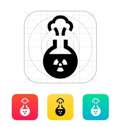 Florence flask with radiation icon vector