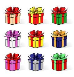 gift contour set vector image