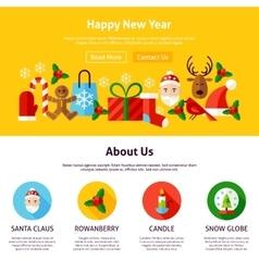 Happy new year website design vector