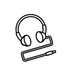 Headphone device nineties retro vector