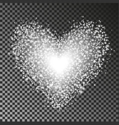 heart with light elements all effect isolated on vector image