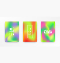 holographic retro 80s 90s covers set vector image