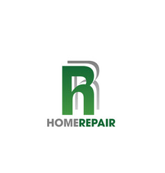 home repair service letter r icon vector image