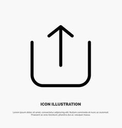 Instagram up upload line icon vector