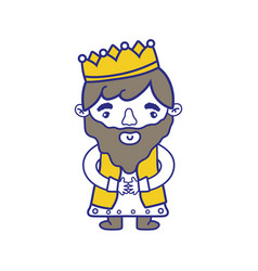 Isolated king design vector