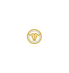 line art bull logo icon vector image