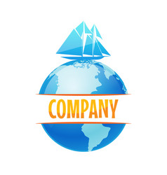 logo for delivery company travel cruise vector image