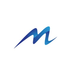 M Letter Mountain Logo vector