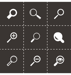 magnifying glass icons set vector image