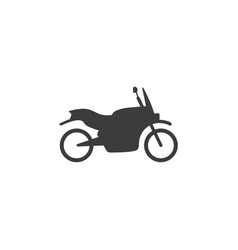 motorcycle transport icon vector image