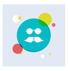 moustache hipster movember glasses men white vector image