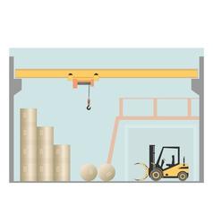 Overhead crane vector