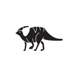 parasaurolophus black concept icon vector image