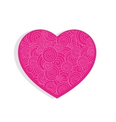 Pink cute textured heart vector