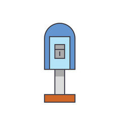post office box line icon concept post office box vector image