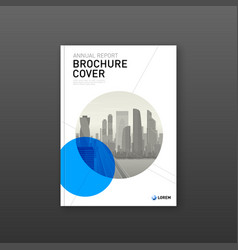 Real estate or construction brochure cover design vector