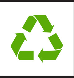 Recycle sign isolated on white vector