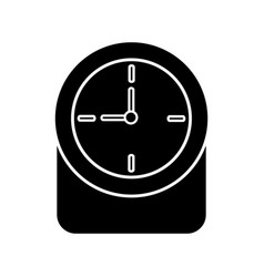 round clock time hour decoration element vector image