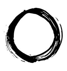 Round frame grunge textured hand drawn element vector