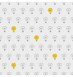 Seamless light bulbs beige pattern vector