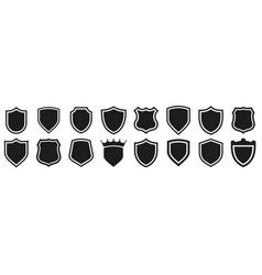 shield icons set protect shield vector image