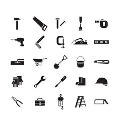 simple icon working tools vector image