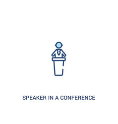 Speaker in a conference concept 2 colored icon vector