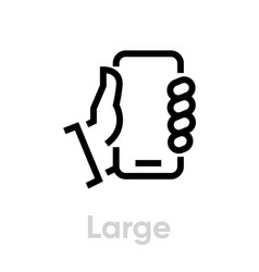 specs tech large phone editable line icon vector image