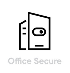 switch office secure security icon editable line vector image