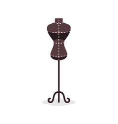 tailors fashion stand female dummy torso vector image