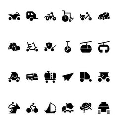 Transport Hand Drawn Doodle Icons 4 vector image