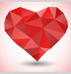 Triangle heart icon vector image