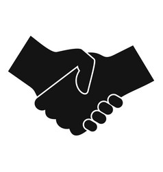 volunteer handshake icon simple style vector image